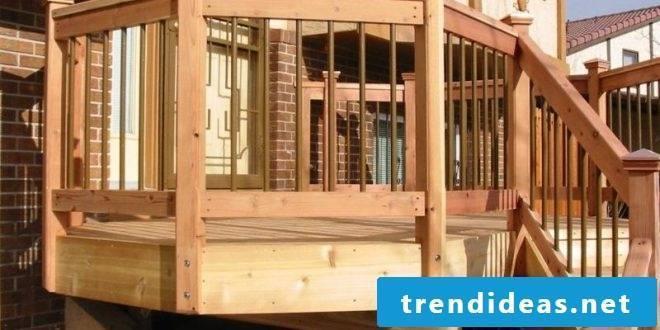 Terrace railing - design and materials