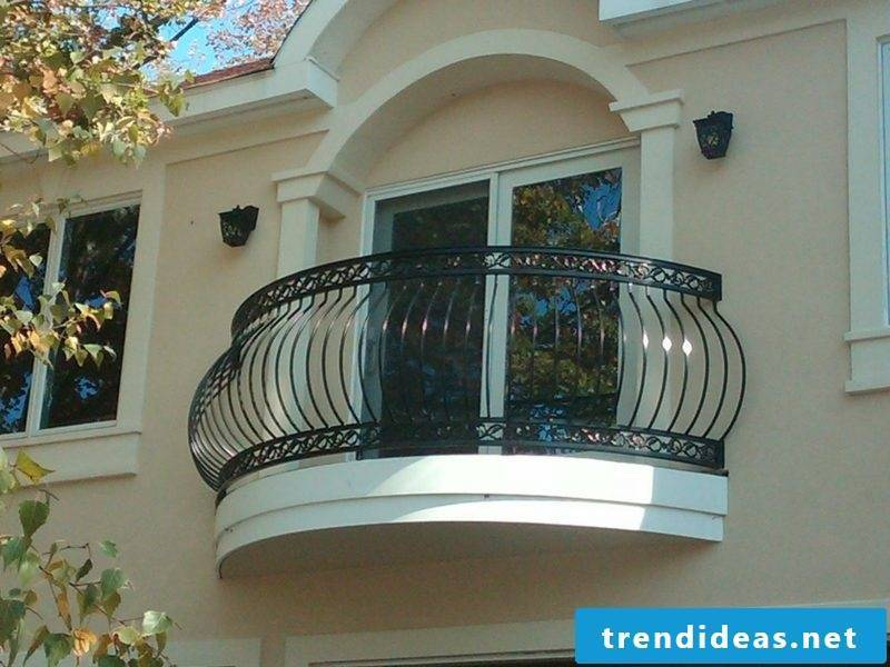 terrace railing curved railing blum black