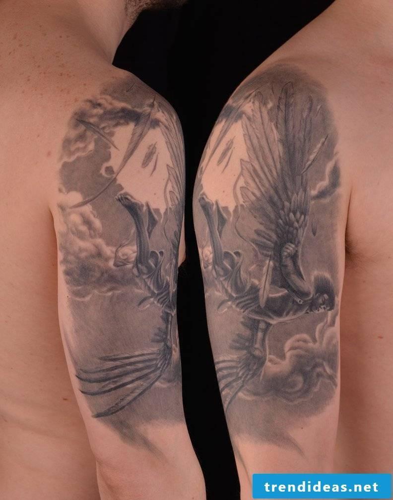 Angel tattoos hand