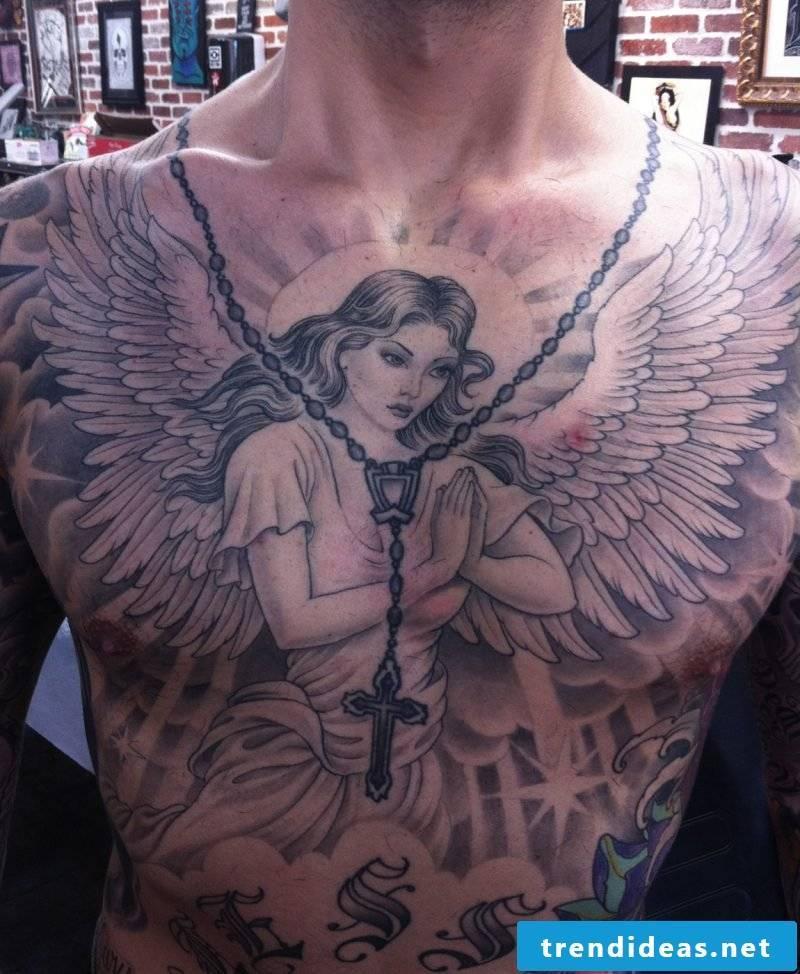 Angel Tattoos Breast