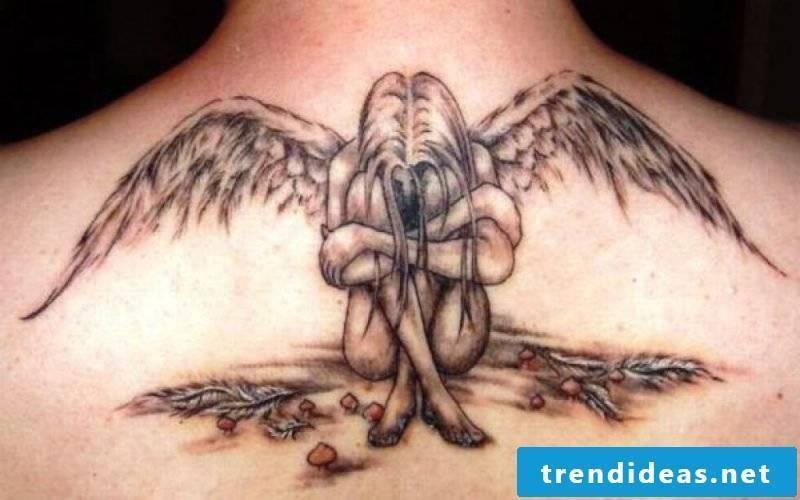 angel tattoos fallen woman