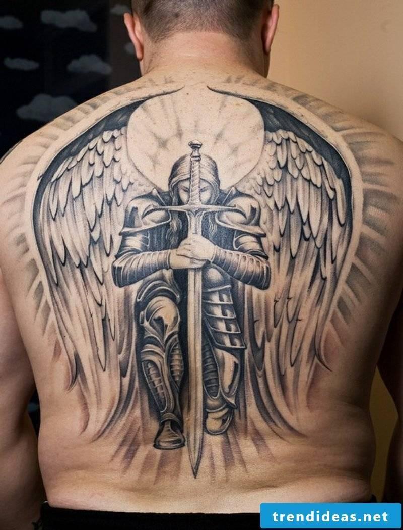 angel tattoos back one