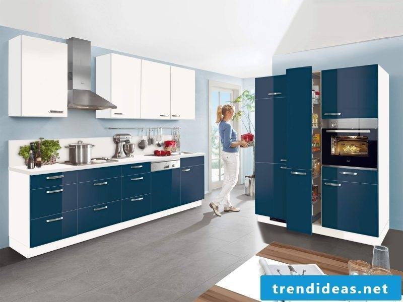 Kitchen brands Nolte blue