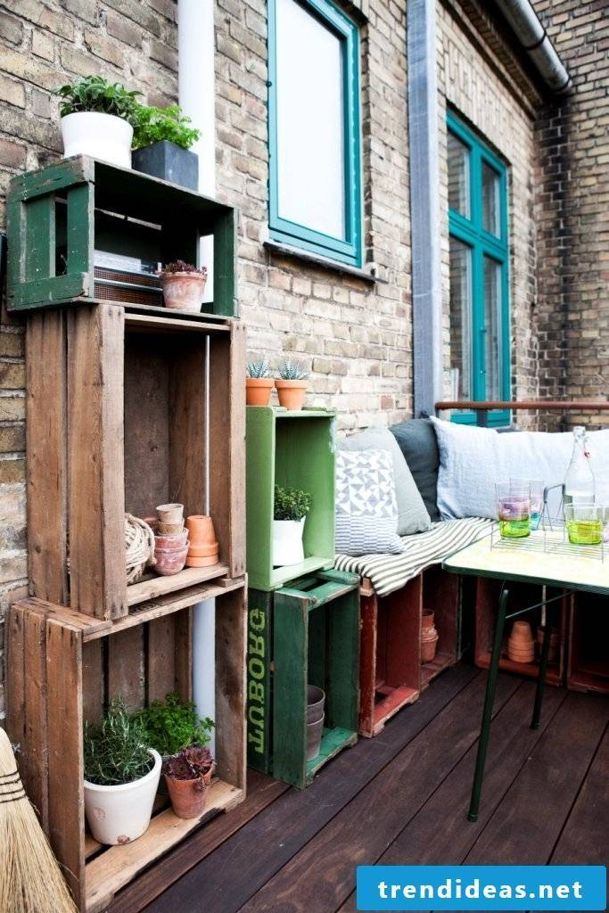 DIY ideas for the terraces