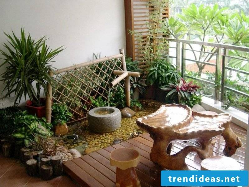 DIY garden terrace decoration