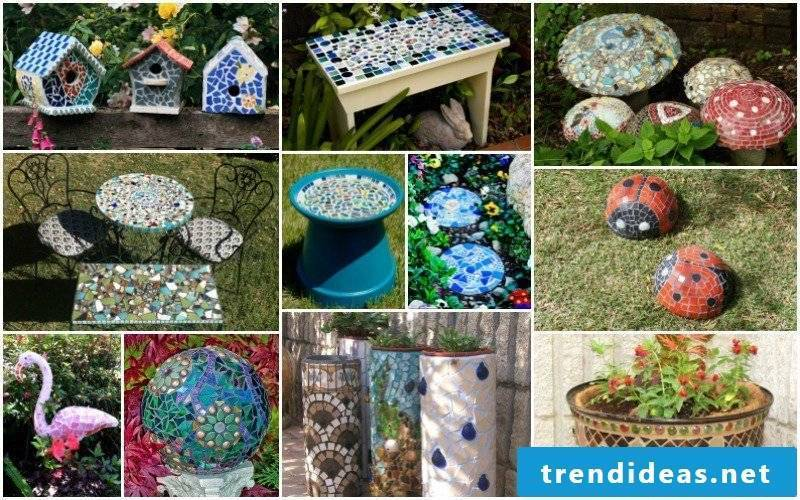 Terraces and garden design pictures - mosaic in the garden