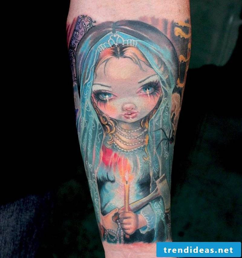 Dance of death cool tattoo ideas colored animation tattoos men tattoo ideas for women