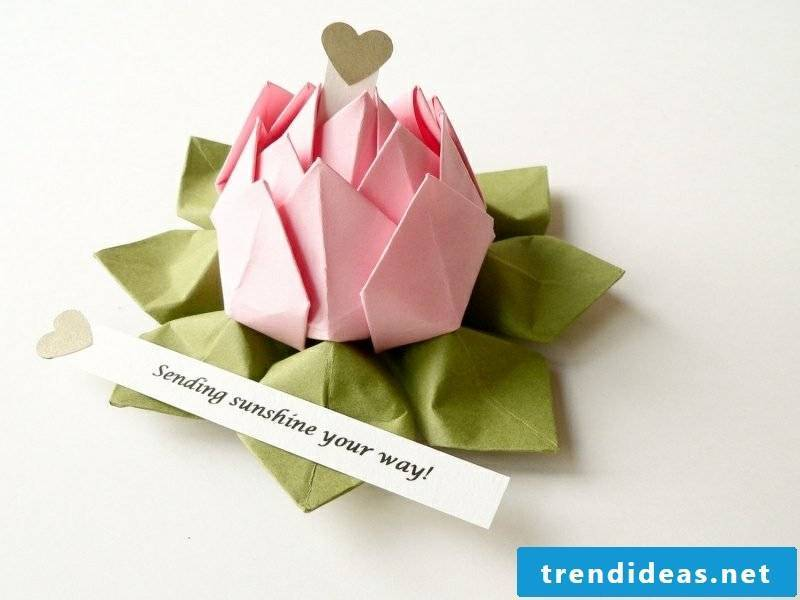Origami flower rather than birthday card creative
