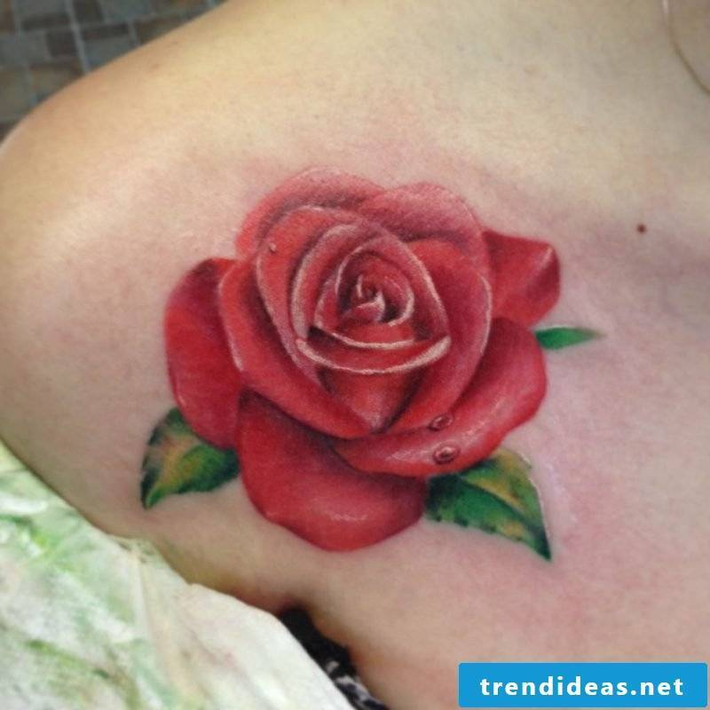 red rose tattoos for women