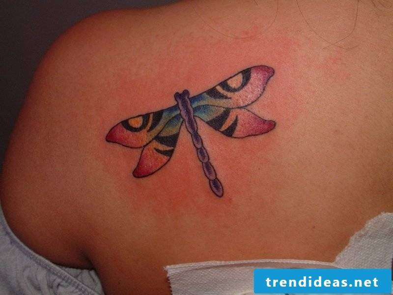 Dragonfly tattoo colored
