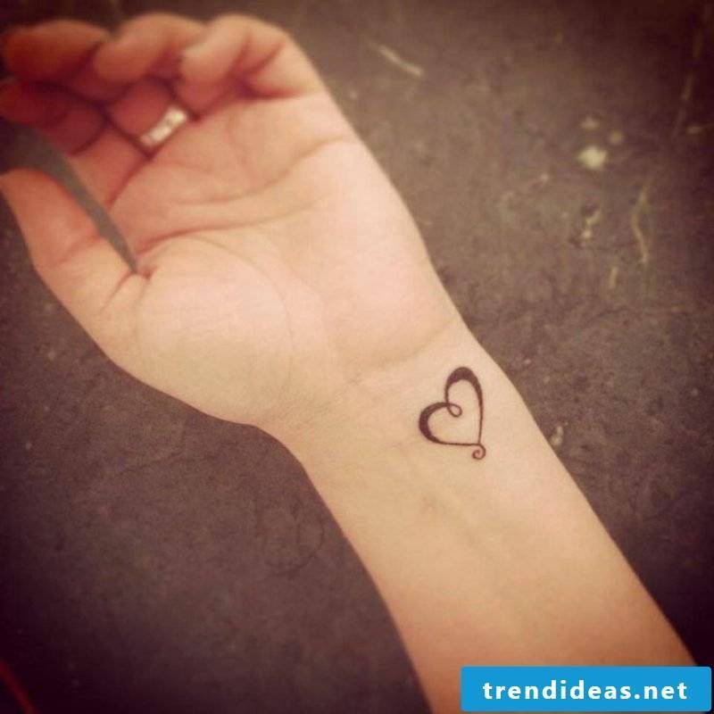 Heart tattoo on the wrist