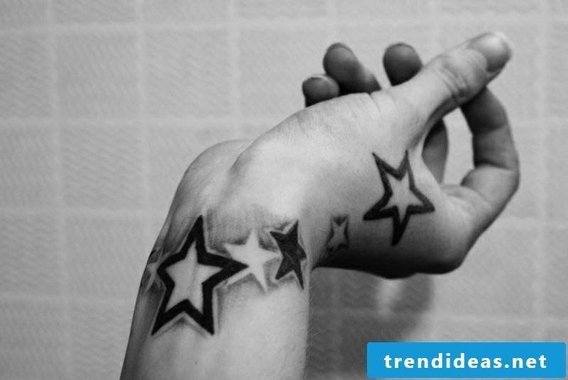Star tattoo hand