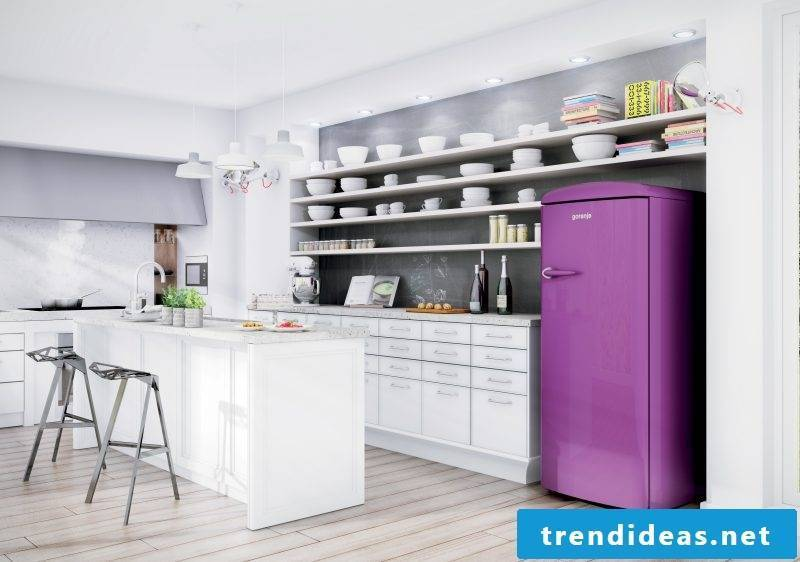Bosch Retro Refrigerator Purple