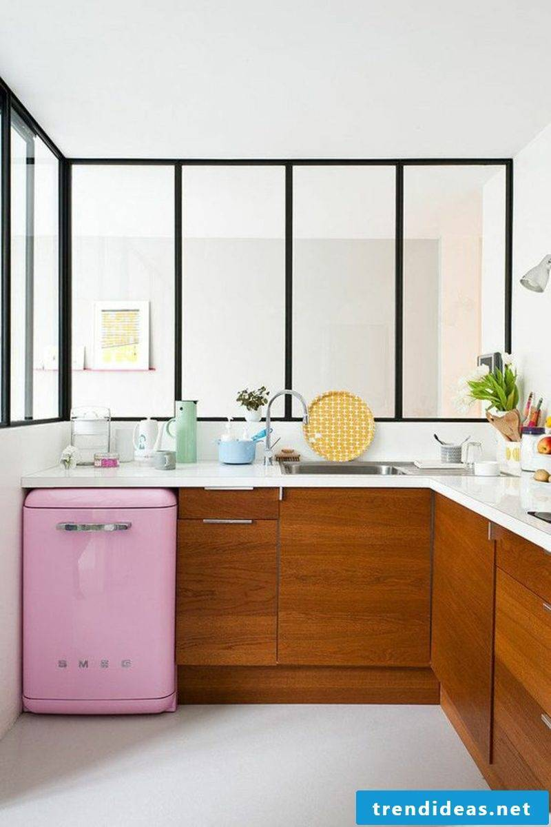 Bosch Retro Refrigerator Pink