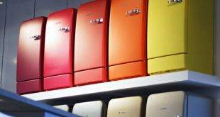 The Bosch Retro refrigerator gives your kitchen a charming look