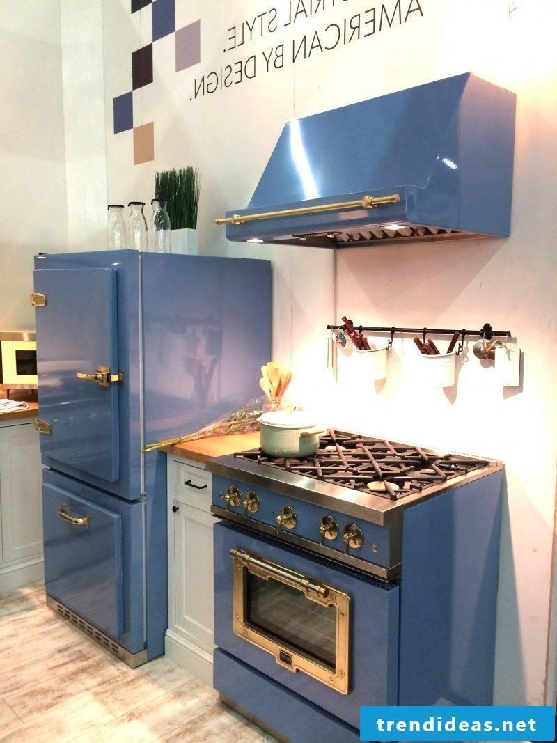 Bosch Retro refrigerator Blue