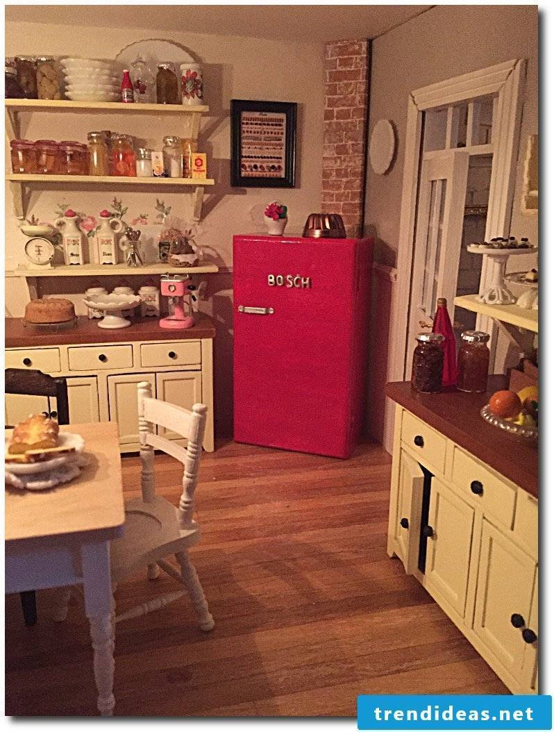 Bosch retro refrigerator kitchen