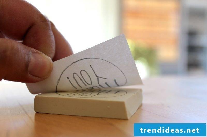 Carve stamp yourself DIY carving instructions stamp