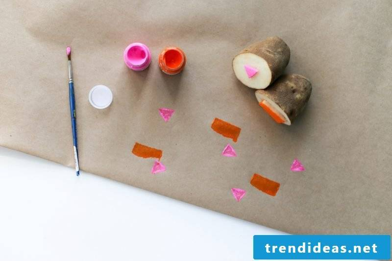 Stamp yourself to do DIY tutorial with potatoes