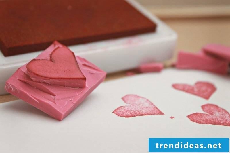 Stamp itself make heart