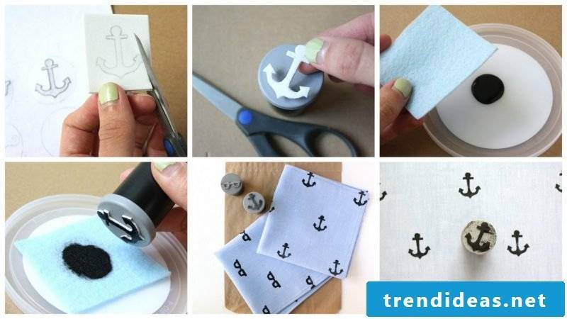 Make DIY stamp yourself on clothes