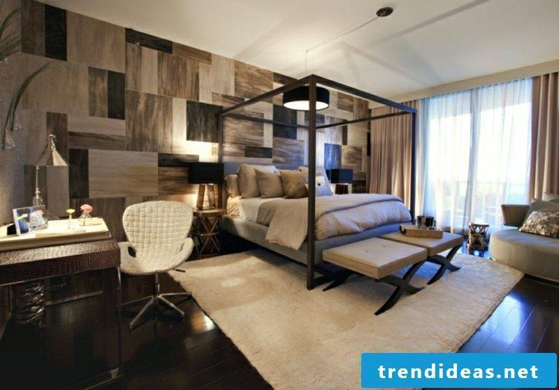 Room decorate bedroom modern bed frame accent wall