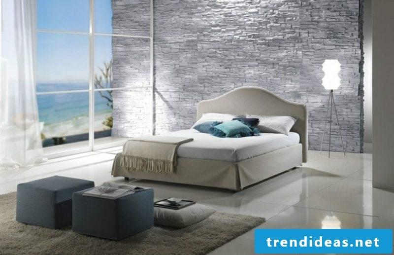 Bedroom design flooring tiles natural stone wall