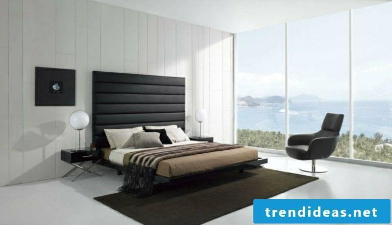 SWchlafzimmer modern neutral color scheme upholstered bed