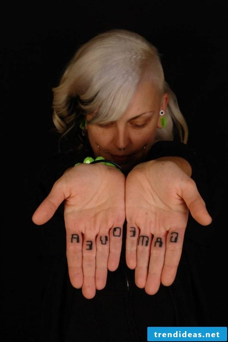 Finger Tattoo Game Over