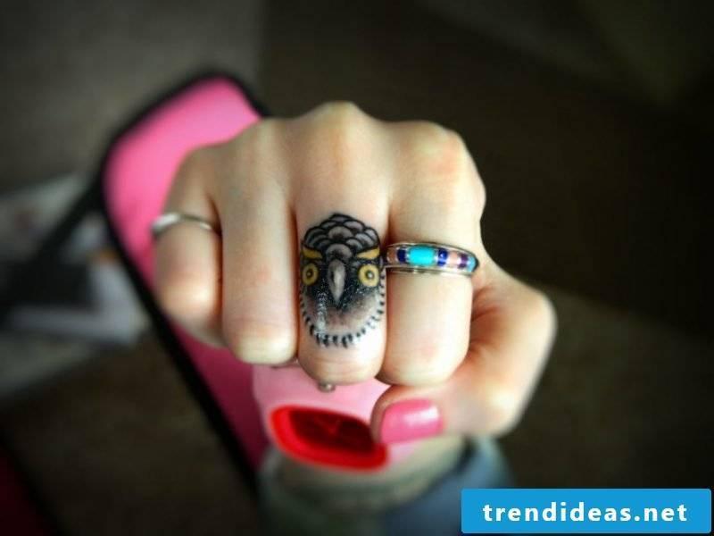 Finger tattoo creative design