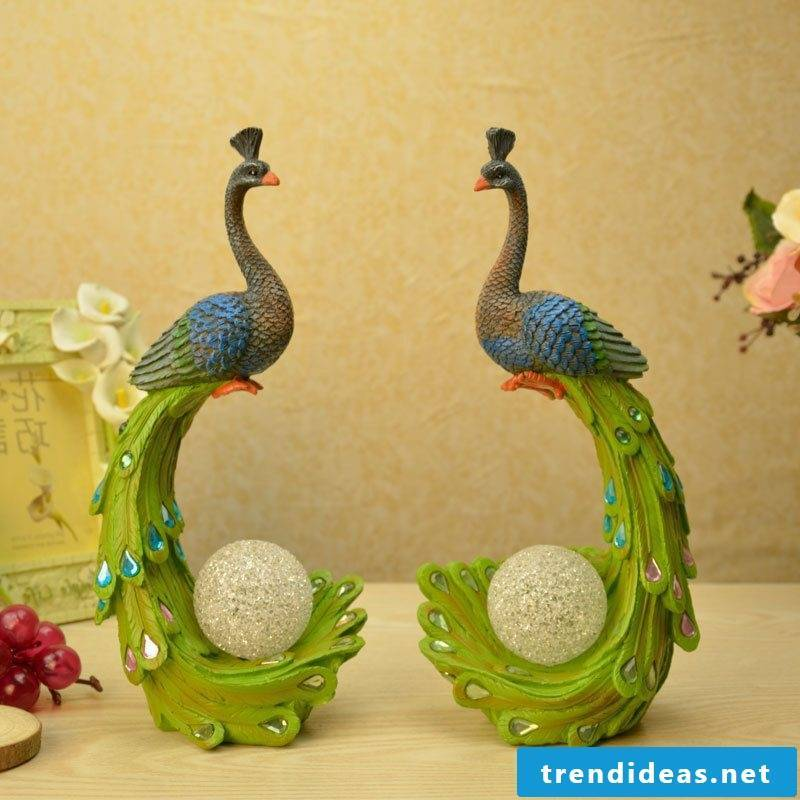 animal figure peacock lamp decorating ideas apartment decorate
