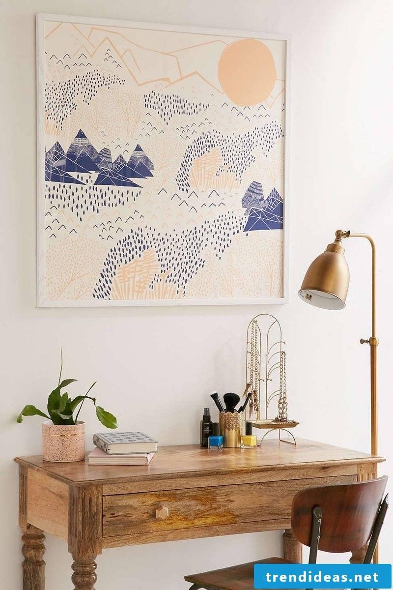 minimalist wall decoration tapestry flat decorate diy deco ideas