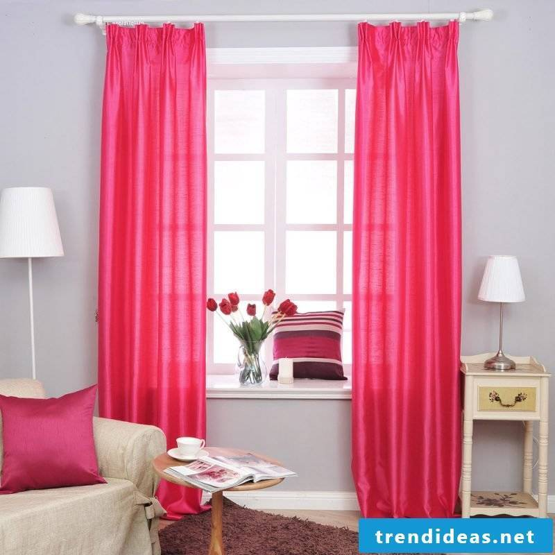 curtains red window design deco ideas throw pillow
