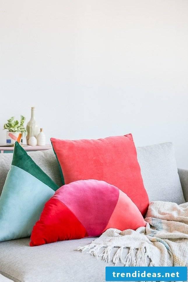 Decorative cushion deco ideas flat decoration sofa cushions red design