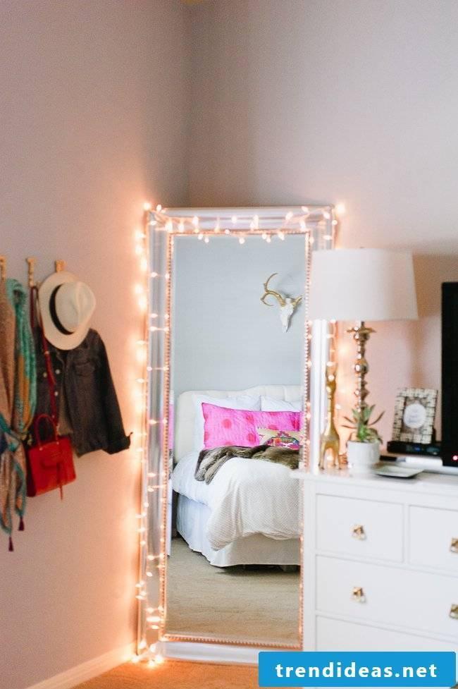 lighting decoration ideas bedroom set mirror pillow bed