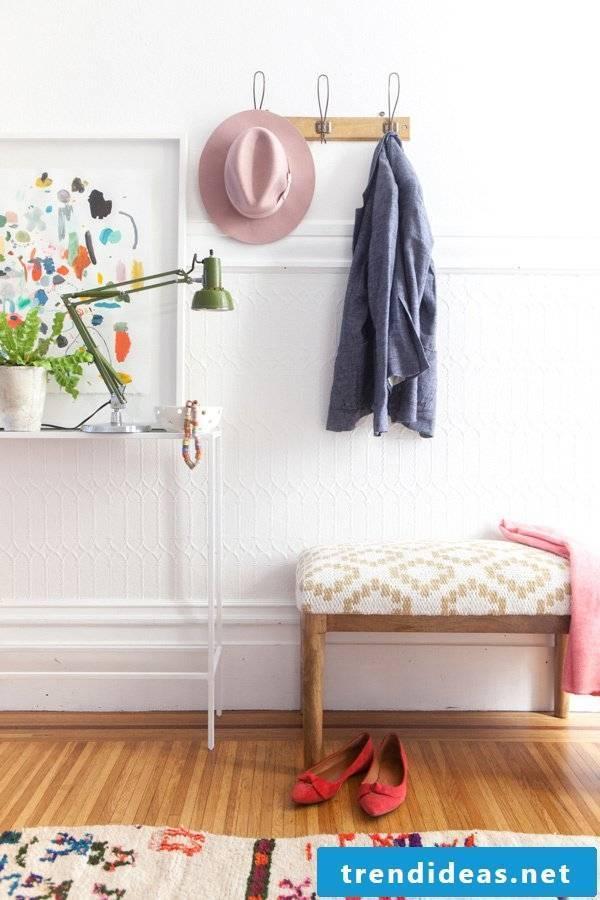apartment decorating ideas elegance home hat jacket clothes rack lamp deco dekoideen