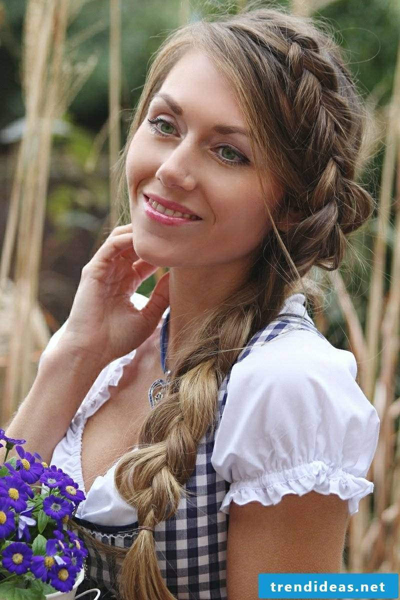 simple braids for medium-length hair
