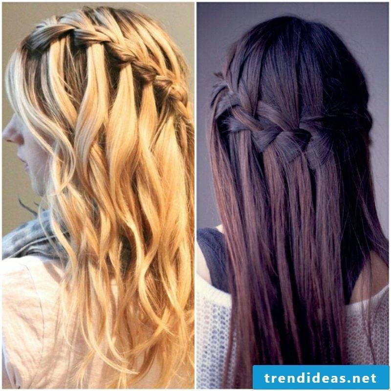 Braided hairstyles Dirndl waterfall braid