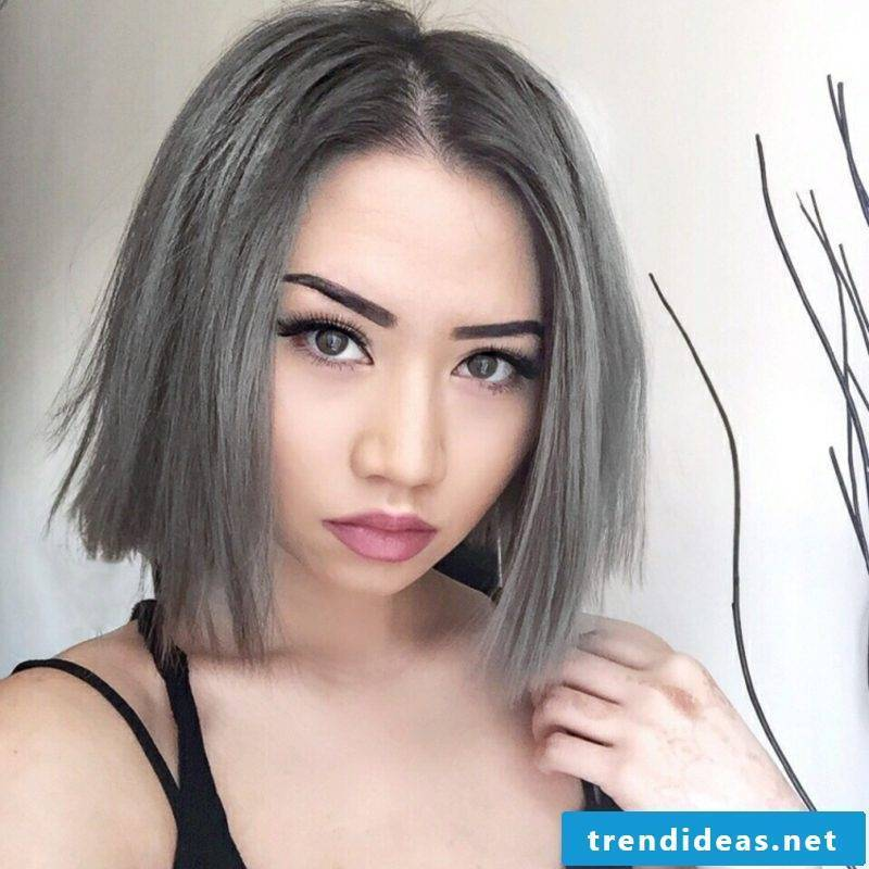 Hair dye new trends color gray
