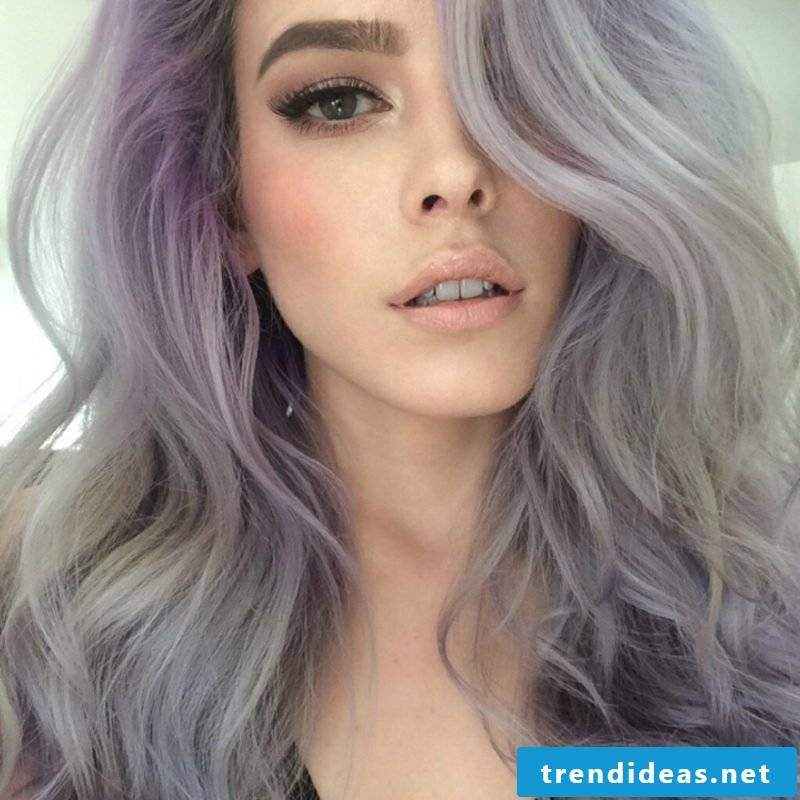 light blonde hair dyeing in gray gorgeous look