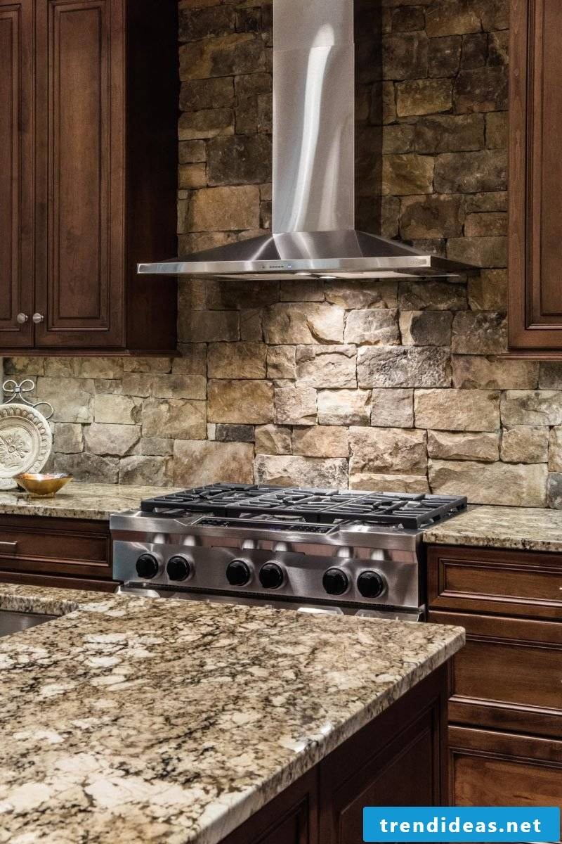 Wall panels with stone look for the kitchen