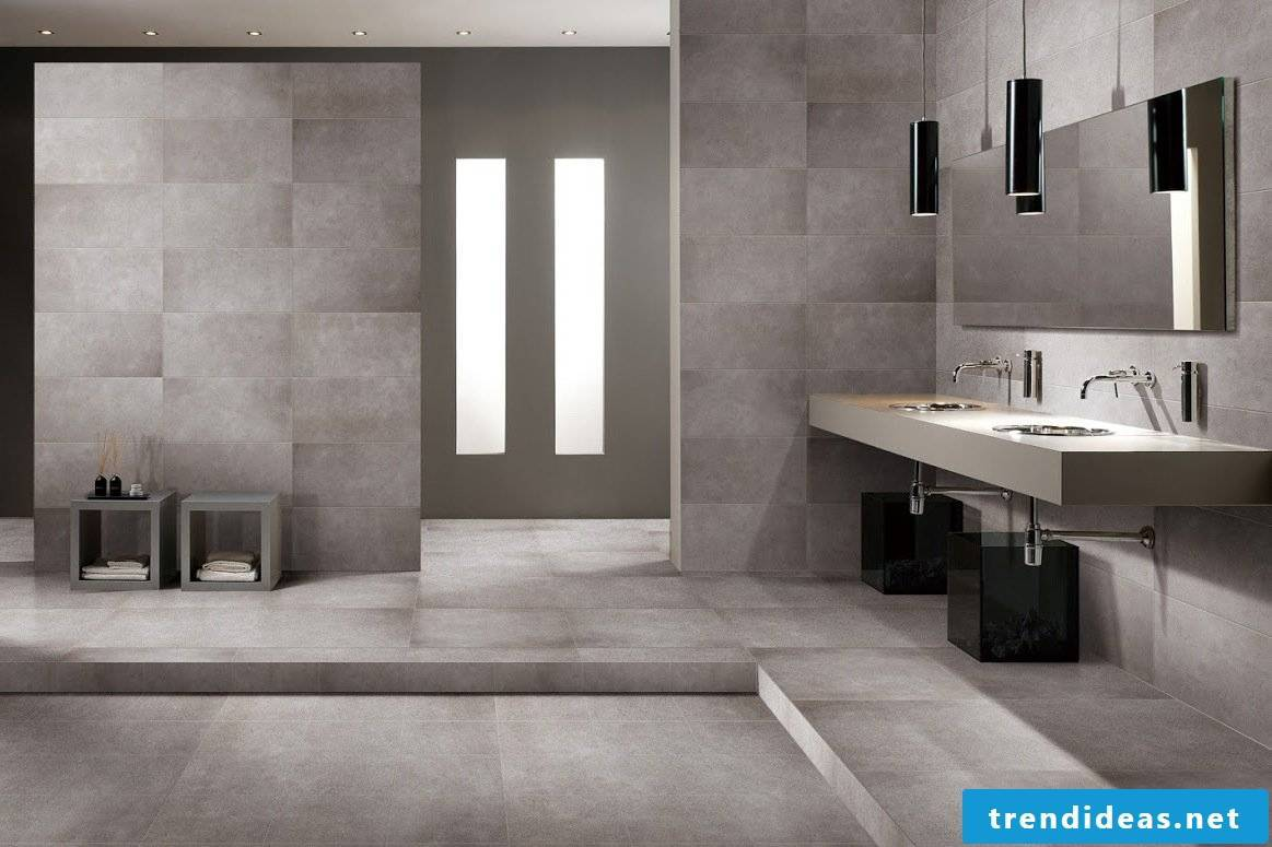 Tiles in concrete look - the new trend for the bathroom