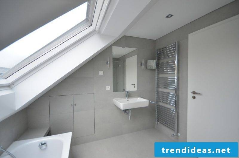 With tiles in concrete look you shape seamless