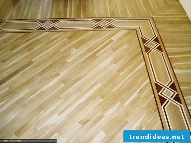 parquet floor with two different directions