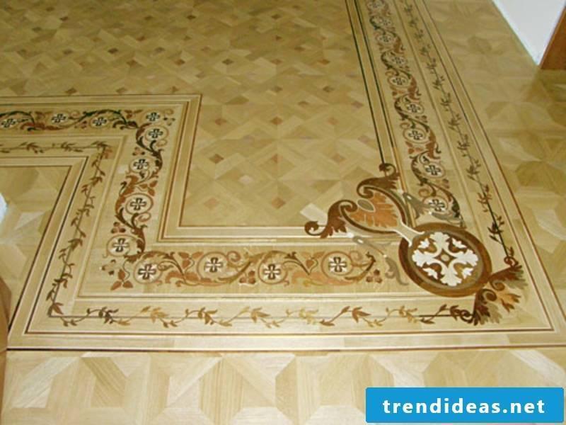 parquet details on the floor