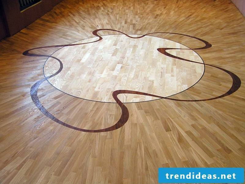 modernism in the parquet decoration
