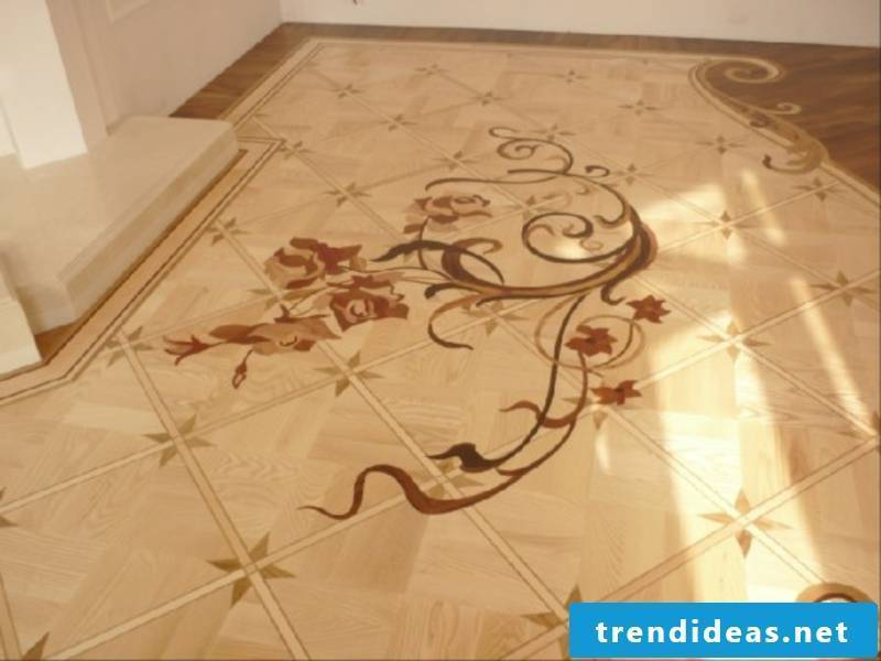 a wonderful decoration on the parquet floor