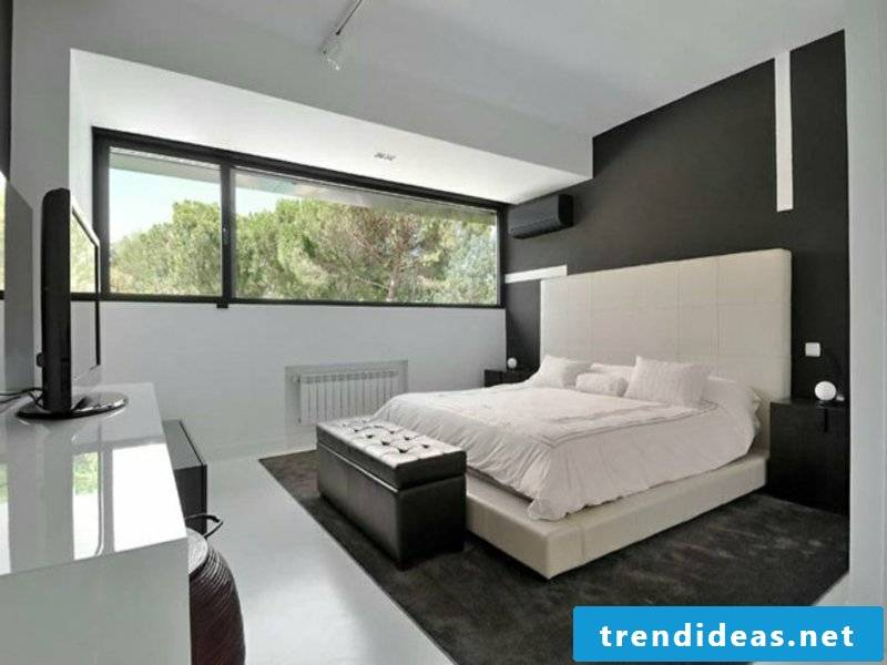 white color in the bedroom design