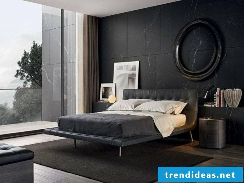 modern dark bedroom