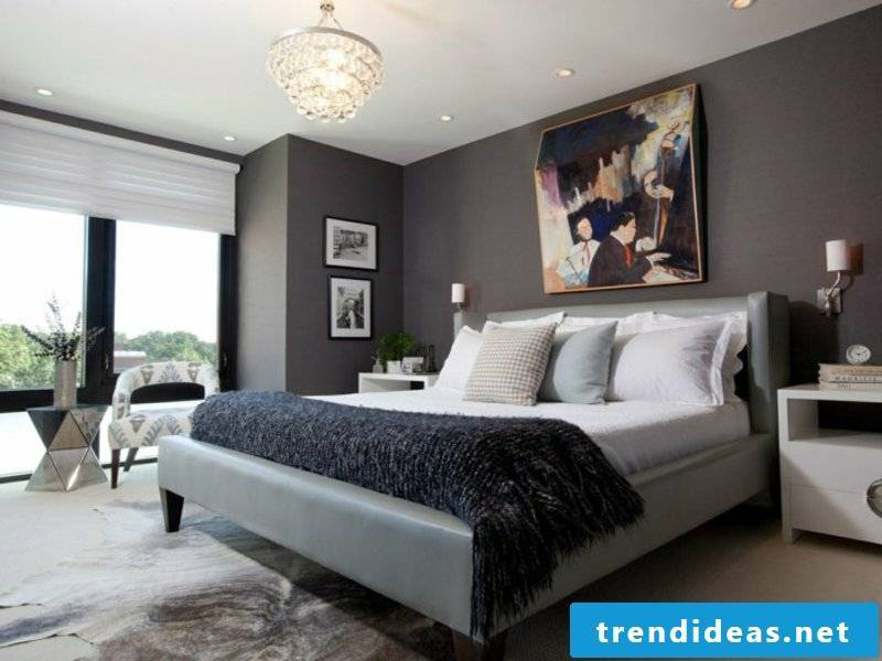 dark colors in the bedroom